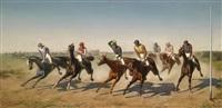 ein renntag in der freudenau (?) by carl rudolph huber