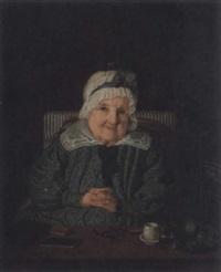 porträtt av grevinnan augusta löwenhjelm, född von fersen, vid sitt skrivbord by amalia lindegren