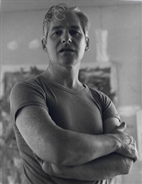 de kooning in his studio, east hampton by tony vaccaro