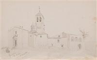 mas badell-bigas, parroquia de sta. quiteria, viaplana-riells y castell de la roca (4 works) by lluis rigalt farriols