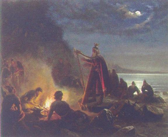 scene fra den nordiske mytologi by niels anker lund