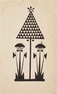 lamak drawings (6 works) by walter spies