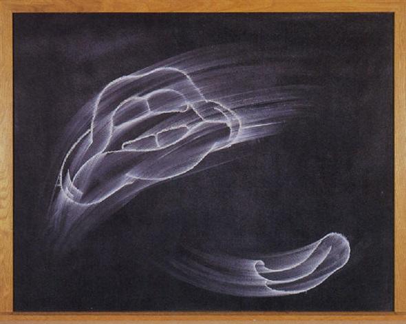 black chalkboard ahhhh please by gary simmons