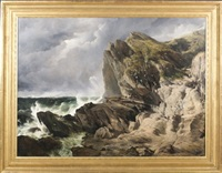 on the cornish coast by frederick richard lee