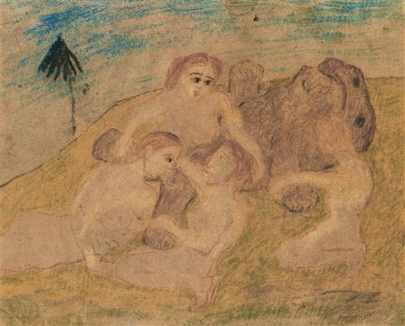lejonhanne omfamnad av kvinnor by carl fredrik hill