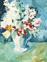 frühlingsblumen in vase by eduard aigner
