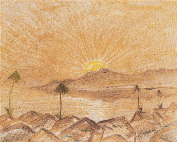 soluppgång över ökenberg by carl fredrik hill