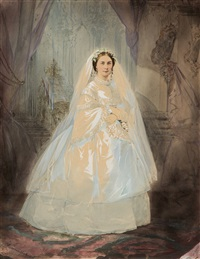 portrait of a bride by stephan fedorovich alexandrovski