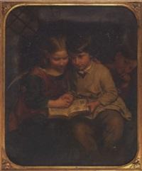 children reading by john thomas peele