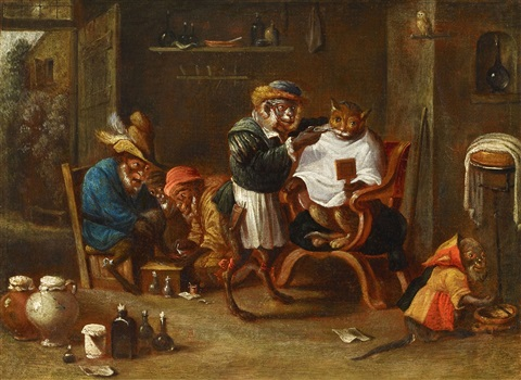 The Monkey Barber by Ferdinand van Kessel on artnet