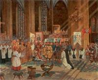 kroningen af den 12 årige kong valdemar, 1251 i linköping by gustav pontus bagge