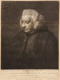 portrait of dr. samuel johnson by charles townley