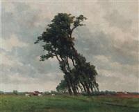 landscape by karel van lerberghe