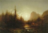 landskap med fors - månsken by magnus thulstrup bagge