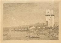 la torre di malghera et alle porte del dolo, paire by canaletto