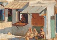escena urbana en tetuán by rafael argeles y escriche
