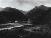 sommerliche landschaft in der s,chsischen schweiz by johann theodor eusebius faber