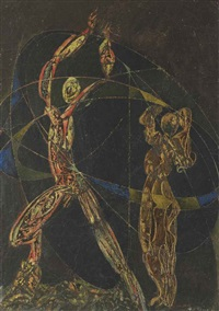 dancers under the starry sky by max ernst