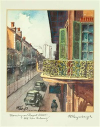 morning on royal street, old new orleans by charles oglesby longabaugh