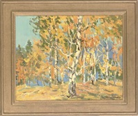 golden autumn (+ 3 others; 2 works) by leonid ignatevich vaishlya