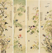 butterfly (set of 4) by luo qilan