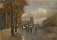 kanal in dordrecht by tina blau-lang