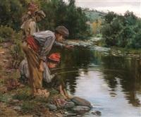 niños de pesca by juan baixas-garrate