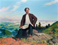 毛主席在井冈山 (chairman mao in jinggang mountain) by wang hui and liu chunhua