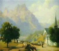 alpenlandschaft by johann jakob vollweider