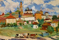 troitse-segiev monastery in zagorsk by rudolf frentz the younger