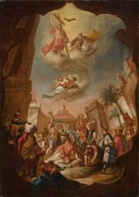 steinigung und himmelsvision des heiligen stephanus by bartholomäus altomonte