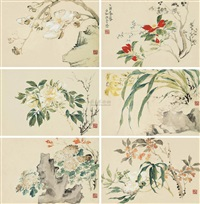 花卉 (flower) (album w/6 works) by jiang jie