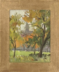 view through the trees (+ 5 others; 6 works) by leonid petrovitch baikov