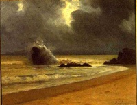 the beach after the storm by edouard lekuyer