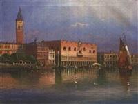 campanile mit dem dogenpalast vom canale grande by luigi amato