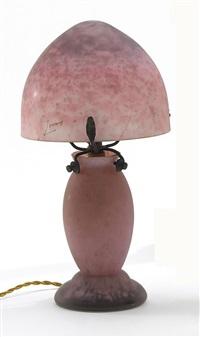 kleine tischlampe by verreries d'art lorrain