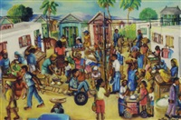 market day in a haitian village by wilson bigaud