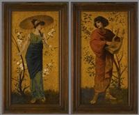 griechische jungfrau (+ griechischer jüngling; pair) by william james linton