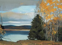 untitled - a still autumn day by frank charles hennessey