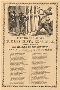 una triste despedida, corrido de acelgas, senor de chalmita, el jesus! and ni un cigaro que fumar (5 works) by josé guadalupe posada
