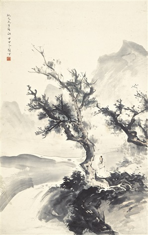 strolling along the shores by li xiongcai