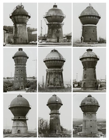 watertowers j set of 9 by bernd and hilla becher