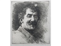 portrait of whistler by mortimer luddington menpes