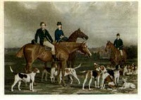 the heythorp hunt (engraved by james scott) by stephen peirce