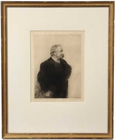 portrait of ernest rousseau by james ensor