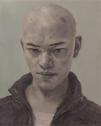 青年肖像 by gao bo