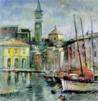 venezianische ansicht mit campanile by erhard theodor astler