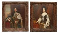hüftbild der königin anna i (+ könig georg i von großbritannien; pair) by anonymous-british