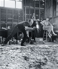 painting one, jackson pollock - lee krasner by hans namuth