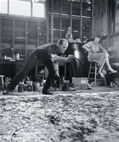 painting one jackson pollock lee krasner by hans namuth